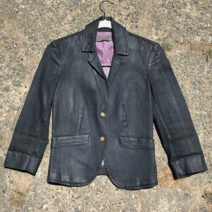 Amazing vintage lacquered faux leather blazer!